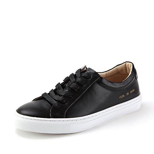 Pisos de cuero otoño zapatos/Zapatos Skate salvaje Negro