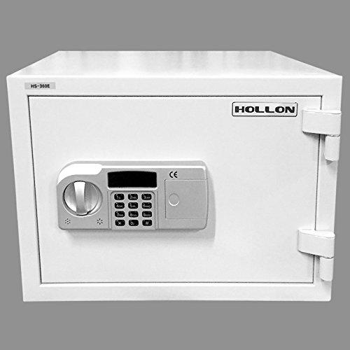 Hollon HS-360E 2 Hour Fire Proof Electronic Home Safe, 9 2/7'' (H) x 15'' (W) x 12'' (D), White by Hollon