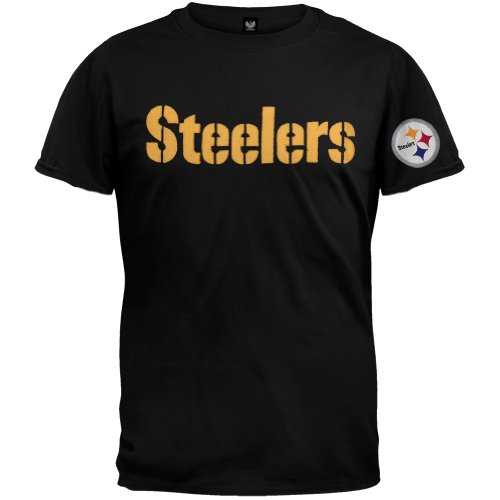Old Glory Pittsburgh Steelers–Logo Fieldhouse Premium T-Shirt