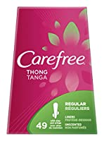 Carefree Thong Panty Liners, Thin To Go, Pack of 49 Liners