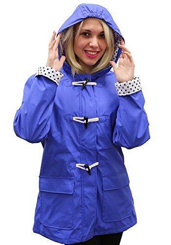 Women's Apparel No. 5 Hooded Toggle Rain Coat Blue,Medium (Jacket Weather Toggle)
