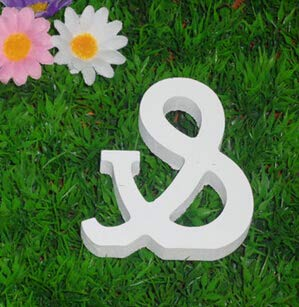 (Craft Alphabet Letters - 8cmx1cm Thick Wood Wooden Letters Sign White Alphabet Craft Home Decor - Letters Wooden Craft Alphabet Figurines Miniatures Wooden Sign Letter Home Decor Shellfish)