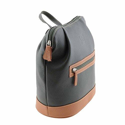 Sac et poignée cuir avec en zip NV Vert à dos Swq7dxF4F