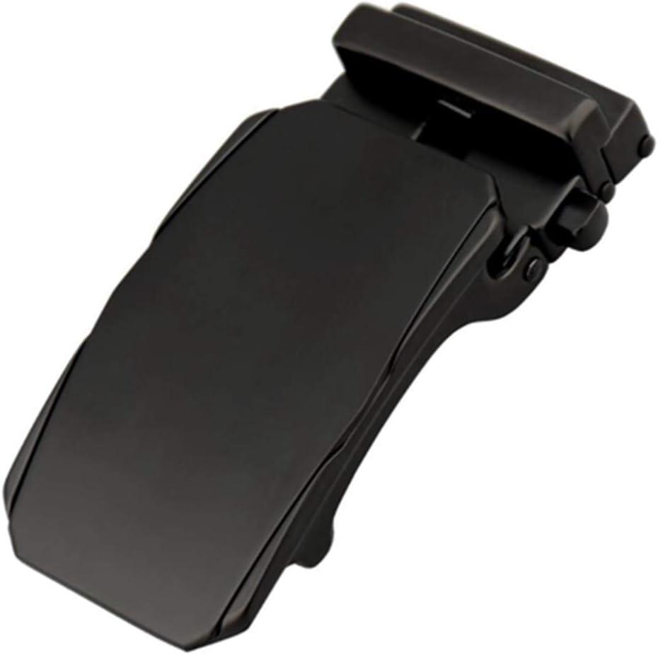 DENGDAI Leather Belt Automatic Buckle Mens Belt Mens Belt Length 110-135cm