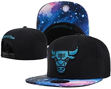 1072e5e99d0 Image Unavailable. Image not available for. Colour  Chicago Bulls Galaxy  Snapback Cap Hat for Man NBA Mitchell Ness Adjustable Black