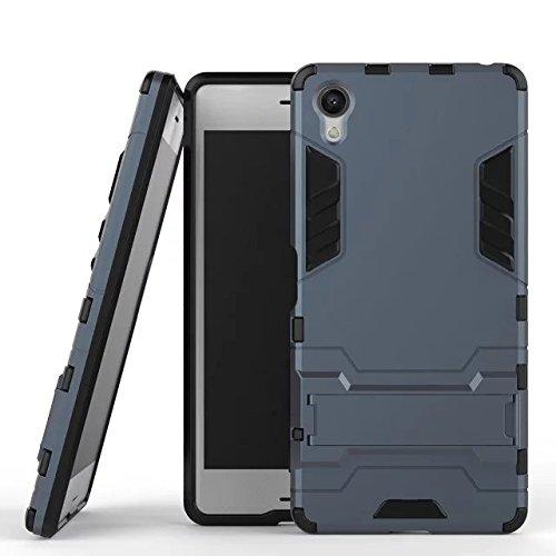 Slim Armor TPU/PC Cover Case for Sony Xperia X (Black) - 3