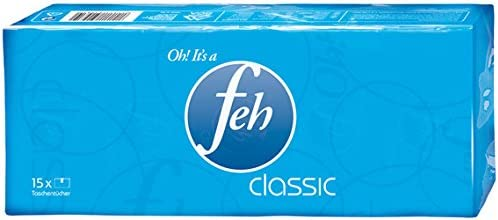 Feh Taschentücher Classic, 4-lagig, 15 x 10 Stück - 15 St.