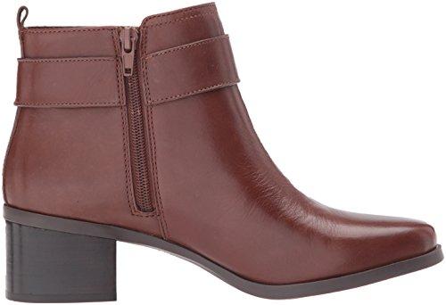 AK Sport Cognac Leather Jeannie Dark Anne Klein Women's Boot Ankle U51xwTq