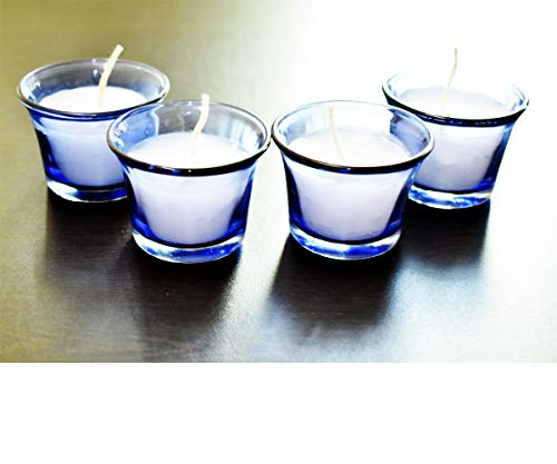 Ascent homes Glass Candle, Pack of 4