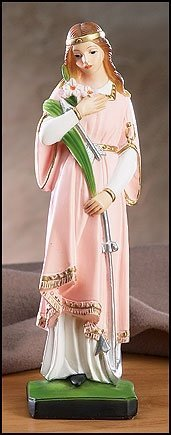 St Philomena Patron Saint of Youth 8 1/2 Inch Statue
