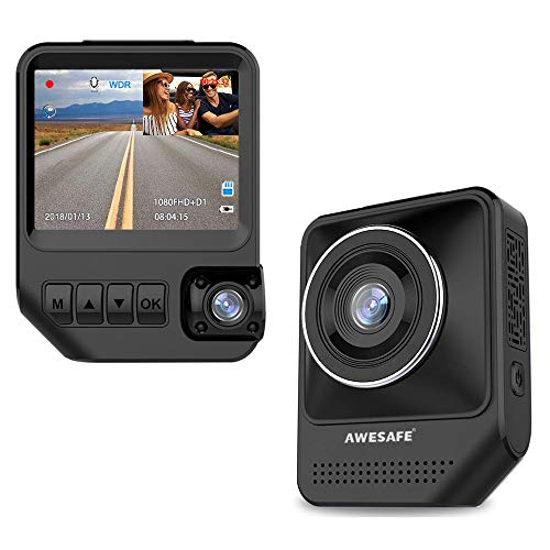 Dual Dash Cam for Cars 1080P Front and Rear Inside Cameras AWESAFE 2.31