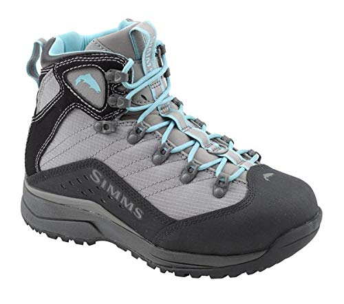 Simms Vaportread Rubber Sole Wading Boots for Women - Lightweight Vibram Sole Fishing & Hiking Boots - Neoprene Lining, Smoke, 10 (Best Wading Boot 2019)