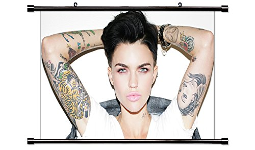 Ruby Rose Actress Fabric Wall Scroll Poster  32X19  Inches