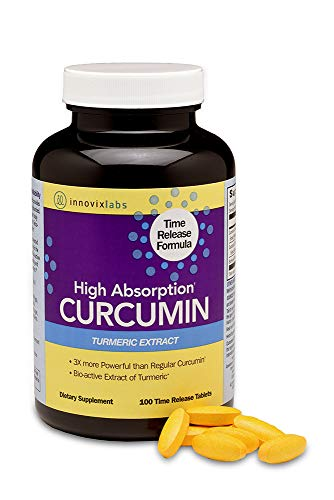 InnovixLabs Curcumin Turmeric with C3 Reduct, C3 Complex and BioPerine Black Pepper for Higher Absorption. 95% Tetra-Hydro-Curcumin - More Powerful Than Curcumin Extract, 100 Time Release Tablets (Dr Best Curcumin C3 Complex)