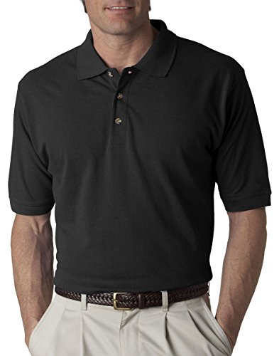 UltraClub Mens Classic Pique Polo 8535 - Black_2XL