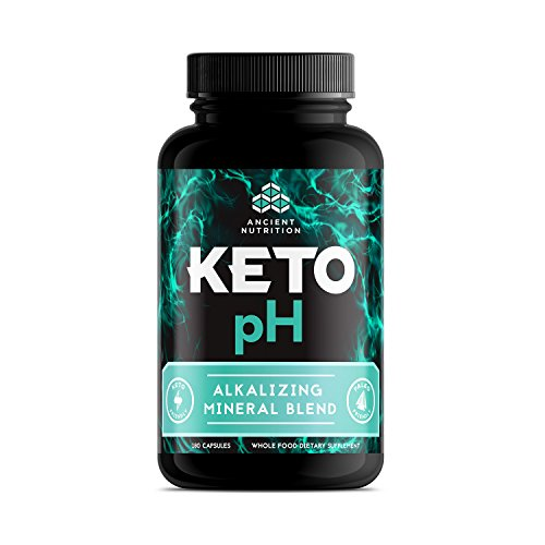 Ancient Nutrition KETOpH Alkalizing Blend, 180 Capsules — pH Balance Supplement Designed for The Keto Diet by Ancient Nutrition