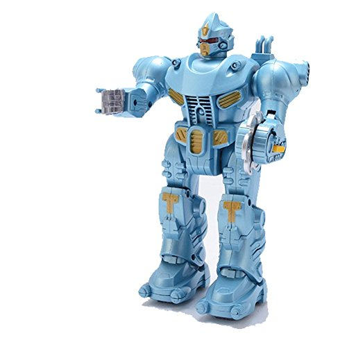 Lightbringer Android Robot Toy Figure For Kids – Lights, Sounds, Realistic Walking Function (Light Blue)