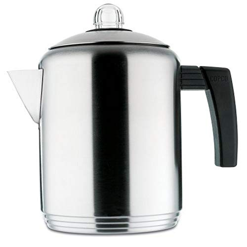 Copco Brushed 4 to 8-Cup Stainless Steel Stovetop Percolator