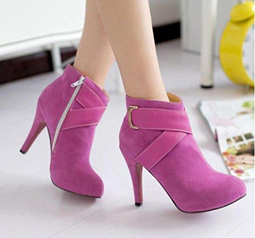 Ei&iLI Chaussures talons hauts cheville Bootie femme / a souligné Toe Boots Dress/Casual , pink , 43