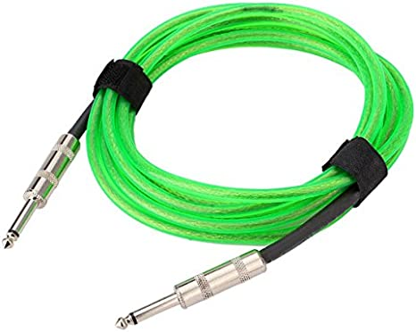Verde 10 ft 3 m cable de guitarra eléctrica Premium Instrumento ...