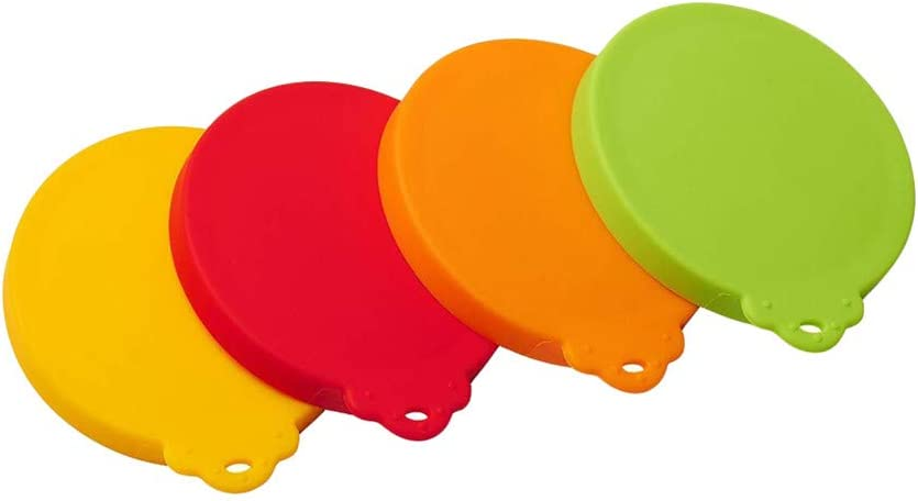 HoneyGod Silicone Pet Can Lids 4 Pack for Pet Dog Cat Food Can Top Universal Silicone Can Lid