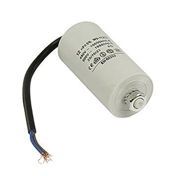 paduTec Kondensator Betriebskondensator Motorkondensator Anlaufkondensator Arbeitskondensator Steckeranschluss mit Kabel 450V Kabel W9 von 2,0/µF bis 50/µF w/ählen Sie die ben/ötigte Gr/ö/ße 12/µF