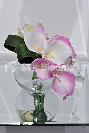 Lirio Artificial moderna y arreglo Floral de la orquídea Cymbidium: Amazon.es: Hogar