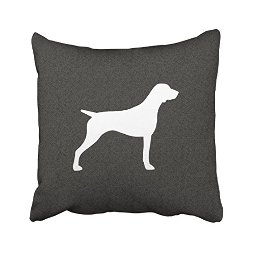 ONELZ German Shorthaired Pointer Silhouette Square Decorative Throw Pillow Case, Fashion Style Zippered Cushion Pillow Cover (20X20 inch)
