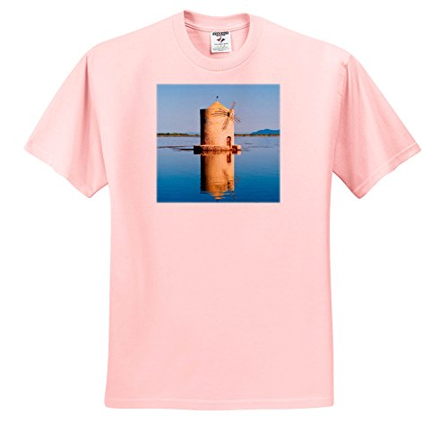 3dRose Danita Delimont - Windmills - Spanish Windmill On The Lagoon Of Orbetello, Maremma, Tuscany, Italy - T-Shirts - Light Pink Infant Lap-Shoulder Tee (12M) (Tuscany 12 Light)