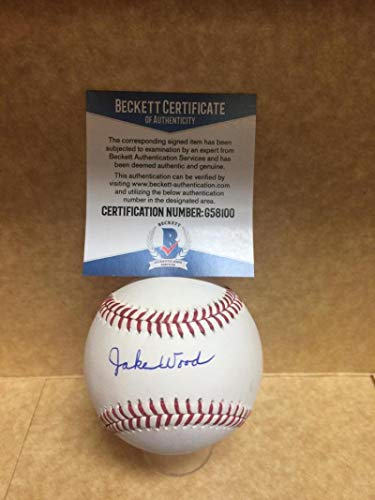 - JAKE WOODS TIGERS/REDS SIGNED AUTOGRAPHED M.L. BASEBALL BECKETT G58100