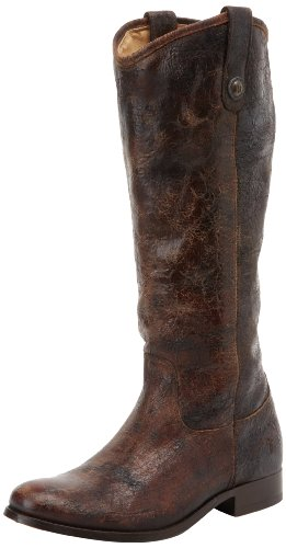 Melissa Glazed Button Vintage Frye Leather De Moto Bottes 77164 Chocolate Femme Z0qUwU