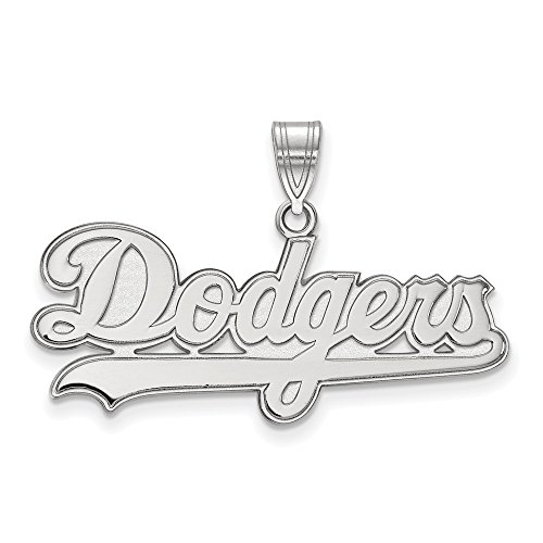 MLB Los Angeles Dodgers Sterling Silver MLB LogoArt Los Angeles Dodgers Large Pendant Size One Size ()