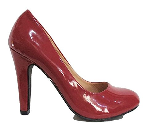 Truffle Truffe Rouge Patent robuste Talon cour Chaussures aOAIycd8j