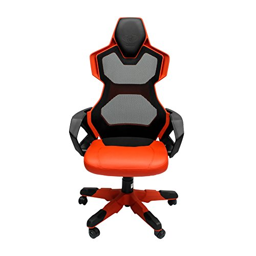 Racing-Style Gaming Chair - Cobra-Ergo Shockproof Nylon Seat, Best For Gamers, Home and Office - Adjustable Height and Headrest - Rock, Swivel and Recline by E-BLUE