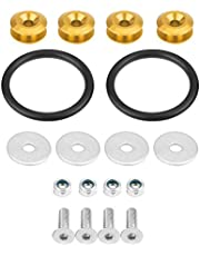 Suuonee Bumper Quick Release Fasteners, Universal Front Rear Trunk Hatch Lids Bumpers Quick Release Washers Bolts Kit (Gold)