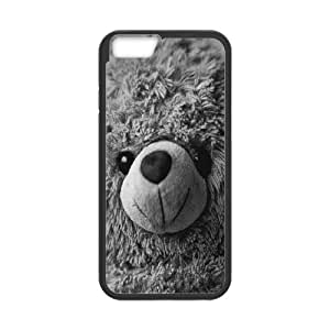 Iphone 6 Plus Case, teddy bear Case for Iphone 6 Plus 5.5 screen Black tcj574947 tomchasejerry
