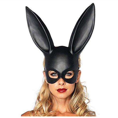 QINJH Bar KTV Halloween Makeup Ball Rabbit Ear Mask Bunny Mask Easter Bunny Mask (Bunny Halloween Makeup)