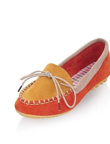 5 Gyht casual De Orange Uk6 5 Mujer Plano Zq Uk4 tacón semicuero planos Eu37 Amarillo Cn37 7 Rosa punta Zapatos us8 Cn39 azul 5 us6 Eu39 Naranja Orange Redonda BwxRzqzd