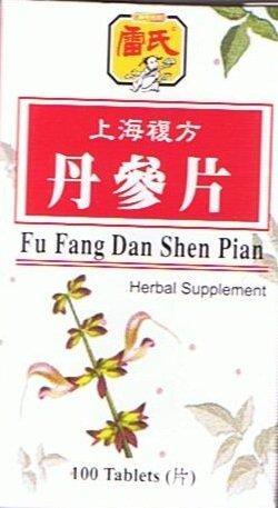 Fu Fang Dan Shen Pian (Salvia Miltiorrhiza) Comprimés -100 (composé de formule de la médecine chinoise pour l'amélioration de la circulation)