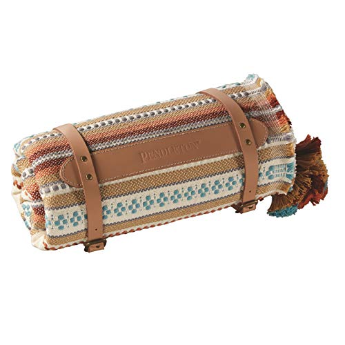 Pendleton Unisex Cotton Jacquard Throw Paloma Stripe Camel One Size