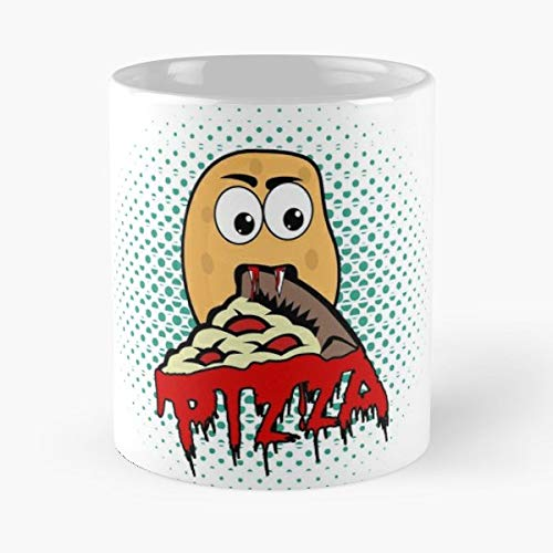Potato Pizza Vampire Halloween - Funny Sophisticated Design Great Gifts -11 Oz Coffee Mug.the Best Gift For Holidays. -
