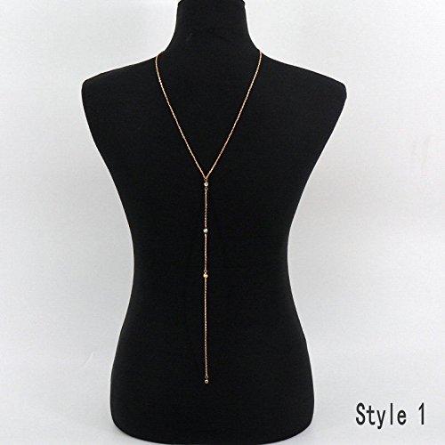 ERAWAN New Body Chain Jewelry Bikini Backdrop Sexy Beach Harness Slave Necklace EW sakcharn (Gold 1)