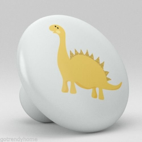 Cute Dino Baby Dinosaur Nursery Ceramic Knobs Pull Door Closet Handle Door 1871 by gotrendyhome