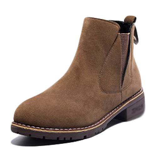 De para Compras Calzado De Zapatos De Bloqueados Marrón Calzado Compras Botas Chelsea 667dcb