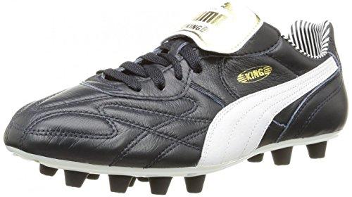 Puma King Top Stripe Di F - Botas de fútbol Hombre new navy-white-puma gold