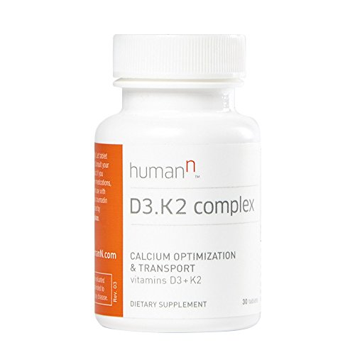 Complex Advanced K2 (HumanN Advanced Vitamin D3 and K2 Complex - Strong Bones and Heart Health Support, Calcium Absorption - Dietary Supplement - Tablets - 30 Count - (Packaging May Vary) - From the Makers of SuperBeets)