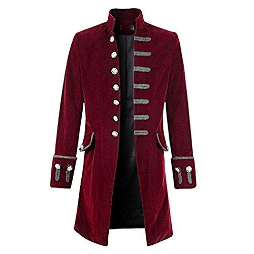 Amazon.com: Aurorao Mens Coat Fashion Steampunk Vintage Tailcoat Jacket Gothic Victorian Frock Coat: Clothing