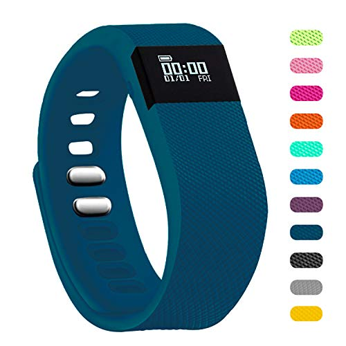 Teslasz Fitness Tracker, Sleep Monitor Calorie Counter Pedometer Sport Activity Tracker for Android and iOS Smart Phone (Dark Blue)