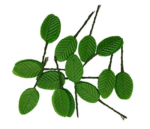 WADSUWAN SHOP Silk Leaf Green Artificial Leaves Flower DIY Green Rose Leaves Artificial Leaf Home Decorative Christmas Party Decoration Bouquet Wreaths Wedding Decor 50pcs