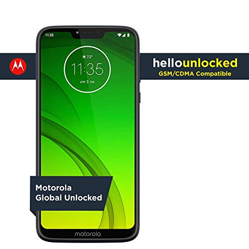 Moto G7 Power - Unlocked - 32 GB - Marine Blue (US Warranty) - Verizon, AT&T, T-Mobile, Sprint, Boost, Cricket, Metro (Google Phone Nexus Unlocked Cell)